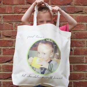 sku123-01-'Photo Message' Large Tote Bag
