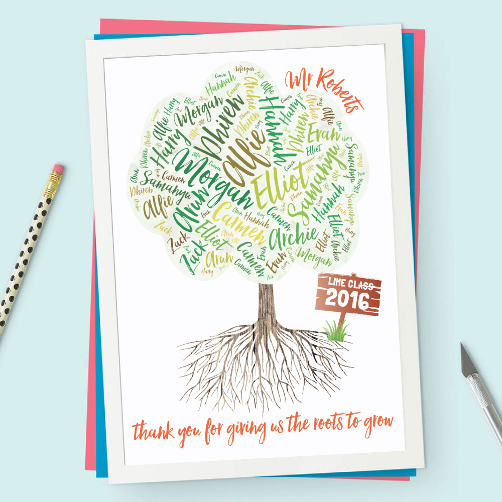 personalised class tree teachers print - Teacher Pictures To Print
