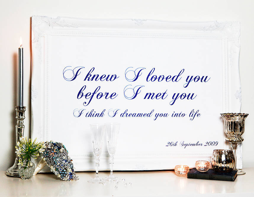 Quotes, vows, lyrics, wedding readings, poems