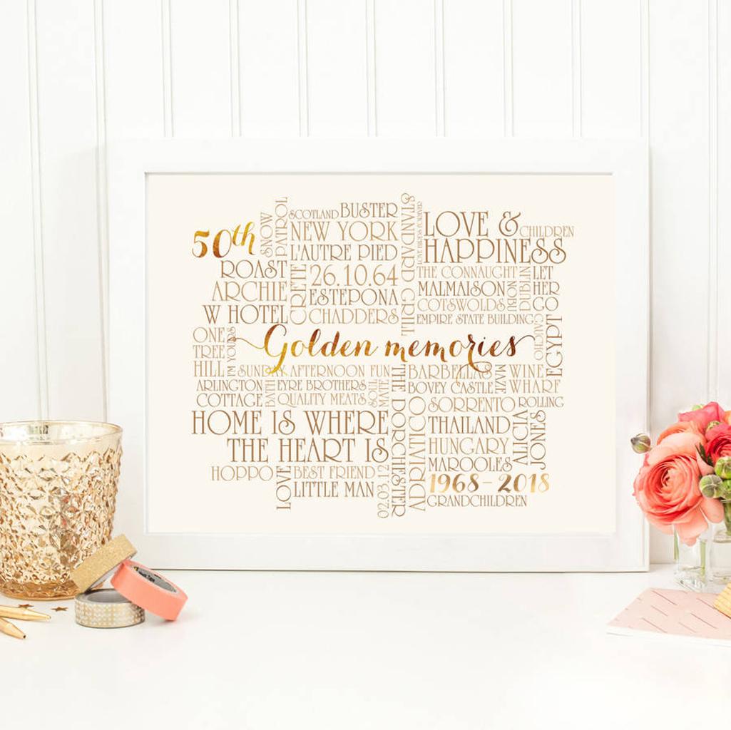 Ideas For Golden Wedding Anniversary Present: Award-winning Keepsakes