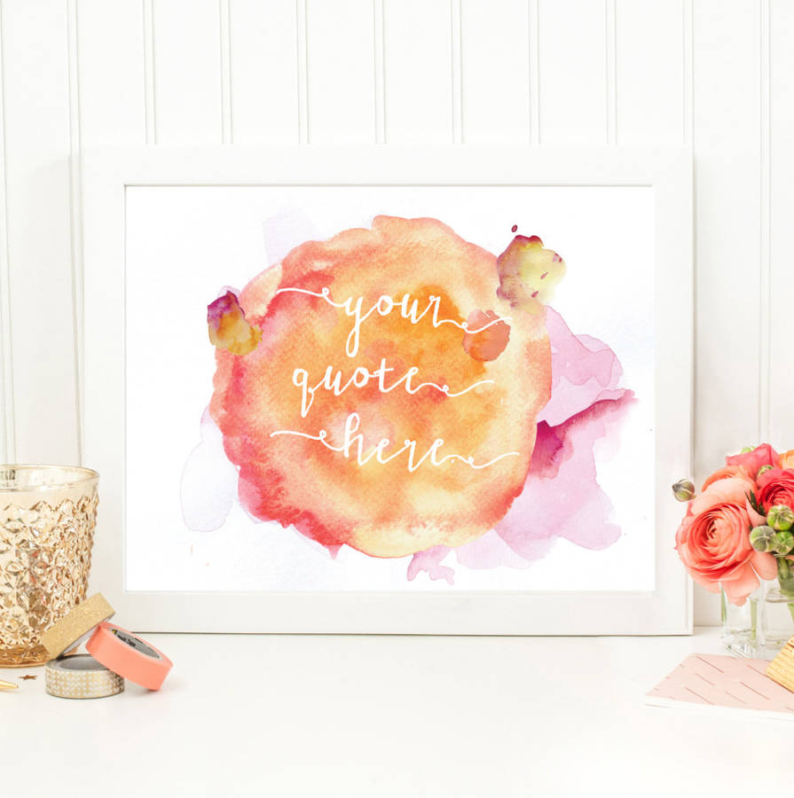 personalised watercolour gift for teachers